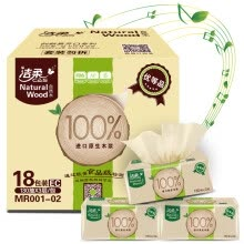 -Jie Cui (C & S) pumping natural wood smooth skin-friendly 3-layer 130 pumping tissue paper * 18 package (M medium-sized box sales low-white paper towels) on JD