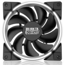 -Overclocking three (PCCOOLER) Haoyue 12CM white light chassis fan (water cooling heat dissipation / computer power fan / CPU fan / shock absorption mute / gift 4 screws) on JD