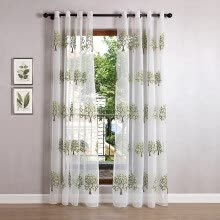8750202-New Christmas Lucky Tree Curtains for Living Room Embroidered Voile Tulle Modern Sheer Curtains for Kitchen Yarn for Knitting on JD