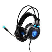 -Sades R1 7.1 headsets for  computer games, black and blue on JD