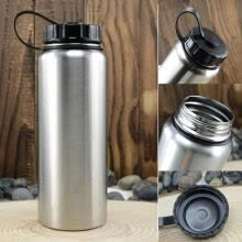 8750502-Camping Sports 1000ml Wide Mouth Stainless Steel Water Bottle Flask Free Cycling on JD
