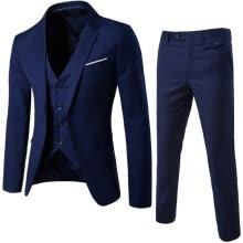 9a665053c4e9 Men s Plus Size 3 Pieces Casual Suit Men Fashion Slim Business Suit Set  Jacket+Vest+Pant 5XL Clearance sale(1-2 size bigger than your normally wear)